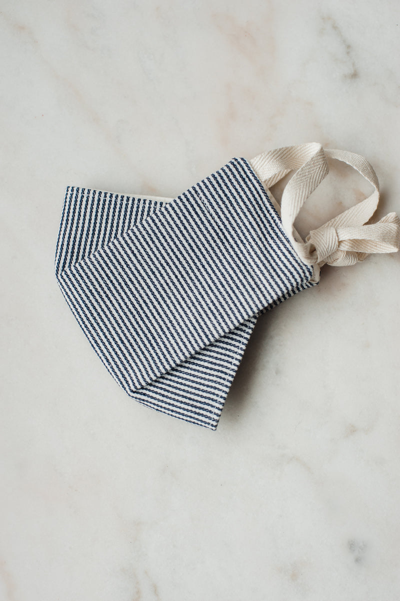 The Mask by EH Works - Navy & White Stripe