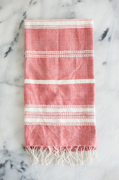 Adobe with Natural Stripes Hand Towel