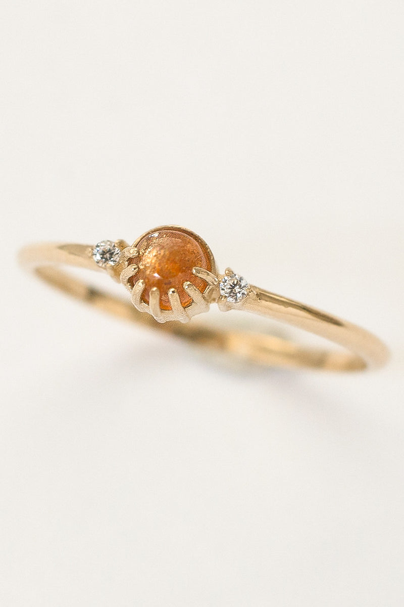 Joyful Eyes Sunstone Ring by Merewif