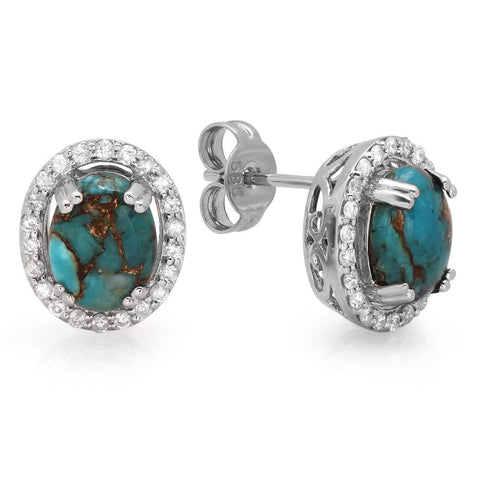 PMI 14W@3.8 44RD1@0.31 2C.TRUQ@1.89 COPPER TURQUOISE EARRINGS