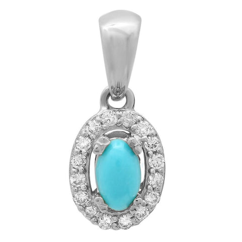PMI 14W@1.0 16RD1@0.11 1TRQ@0.15 TURQUOISE PENDANT