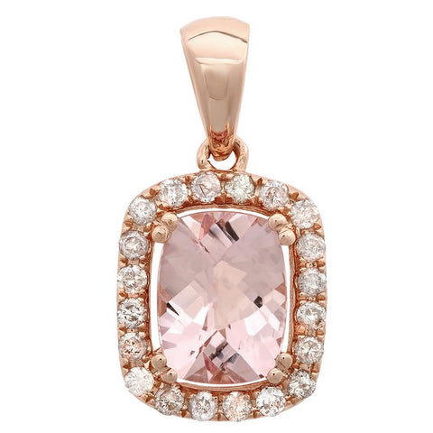 PMI 14P@1.60 20RD4@0.23 1MR@1.33 MORGANITE PENDANT