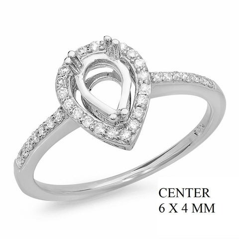PMI 14W@2.10 32RD1@0.18 6X4MM PEAR SHAPE HALO