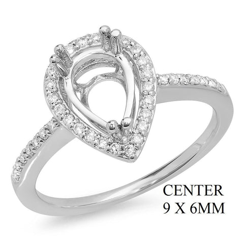 PMI 14W@2.9 38RD1@0.21 9X6MM PEAR SHAPE HALO