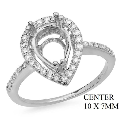 PMI 14W@2.72 39RD1@0.25 (10X7MM) PEAR SHAPE HALO