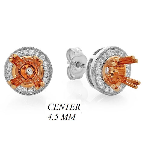 PMI 14WP@2.38 32RD3@0.16 (0.35CT) 4.5MM ROUND TWO TONE
