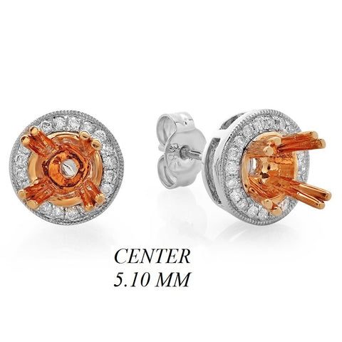 PMI 14WP@2.81 36RD3@0.19 (0.50CT) 5.10MM ROUND TWO TONE