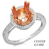 PMI 14WP@2.80 44RD3@0.15 (1CT) 6.4MM ROUND TWO TONE