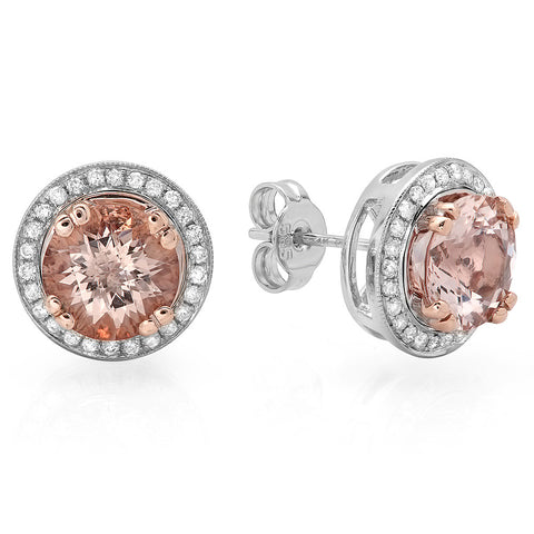 PMI 14WP@5.30 52RD3@0.27 2MORG@3.31 MORGANITE EARRINGS