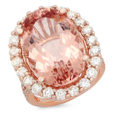 PMI-CERT 14P@12.6 36RD1@0.32 22RD1@1.76 1MORG@19.82 MORGANITE RING