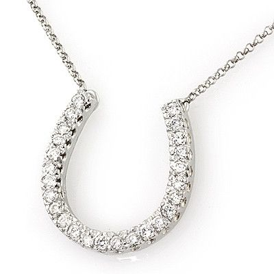 PMI 14W@3.2 25RD1@0.39 W/CHAIN LARGE HORSESHOE PENDANT