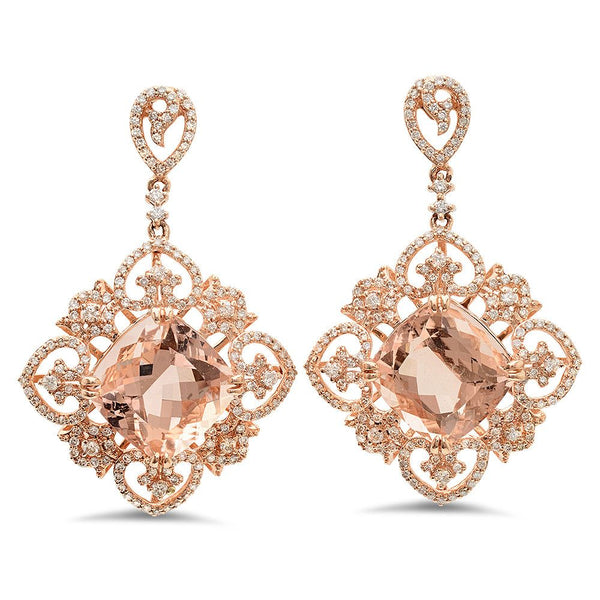 PMI 14P@9.70 324RD1@1.45 2MORG@15.87 MORGANITE EARRINGS
