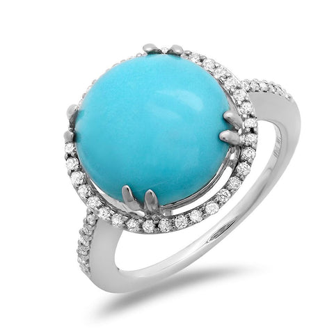 PMI 14W@3.7 47RD3@0.26 1TRQ@4.6 TURQUOISE RING