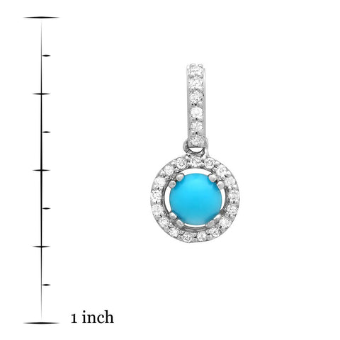 PMI 14W@0.80 23RD3@0.10 1TRQ@0.21 TURQUOISE PENDANT