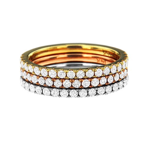 PMI 14TRI@5.3 36RD1@0.69 TRI-COLOR STACKABLE DIAMOND Bands