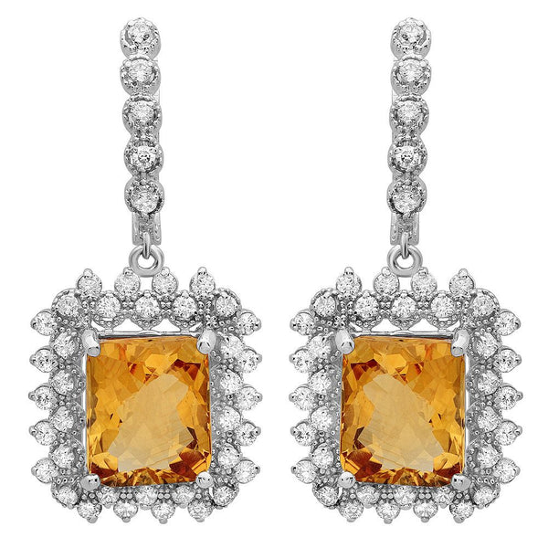 PMI 14W@12.6 82RD1@2.0 2CIT@11.50 CITRINE EARRINGS