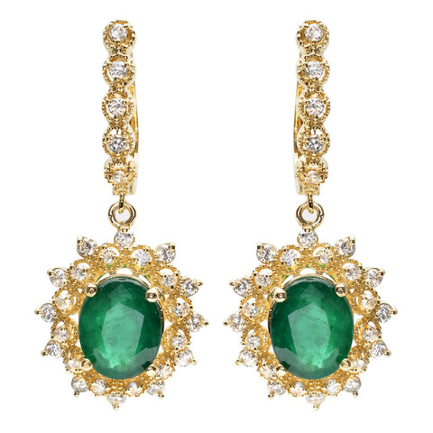 PMI 14Y@7.30 58RD@1.24 2EM@4.86 EMERALD EARRINGS