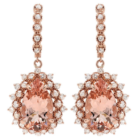 PMI 14R@11.1 66RD1@1.91 2MORG@12.06 MORGANITE EARRINGS