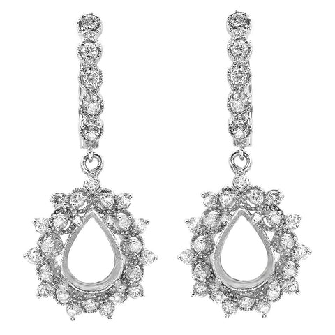 PMI 14W@7.4 54RD2@1.41 PEAR EARRINGS
