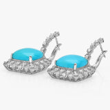 PMI 14W@9.4 82RD1@1.64 2TQ@14.45 TURQUOISE EARRINGS
