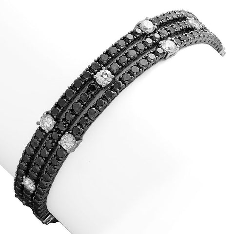 "PMI 14W@21.5 186BLK@10.66 15RD1@3.02 7"" BLACK DIAMOND BRACELET"