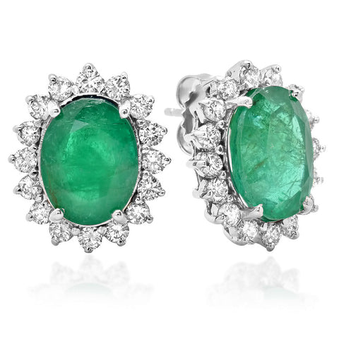 PMI 14W@5.90 32RD1@1.34 2EM@7.79 EMERALD EARRINGS