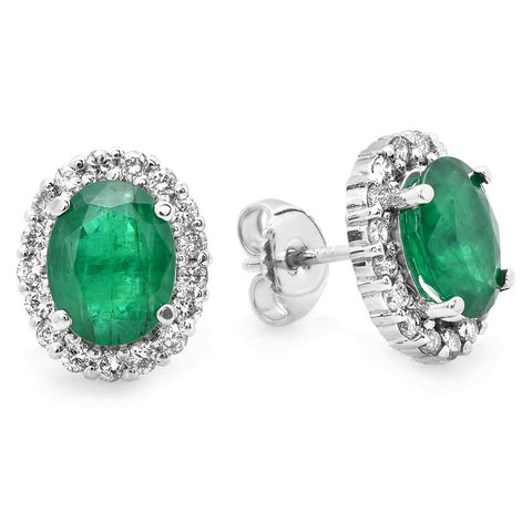 PMI 14W@3.3 34RD2@0.74 2EM@3.10 EMERALD EARRINGS