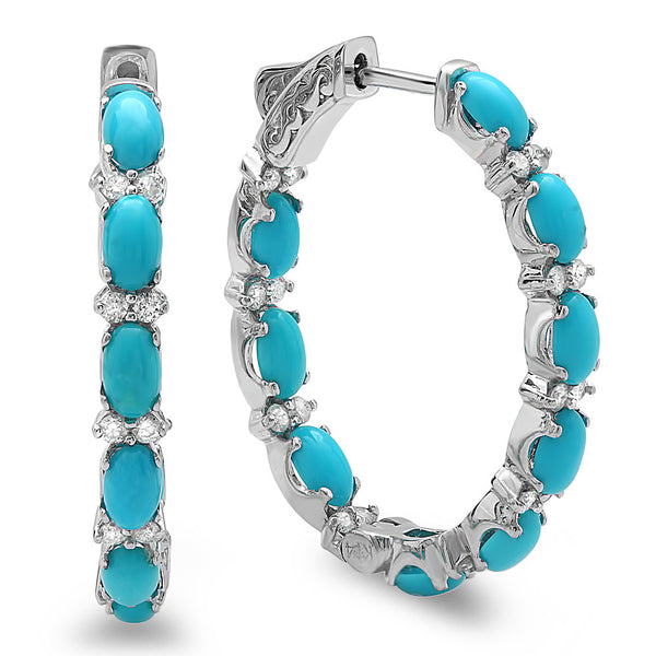 PMI 14W@8.90 52RD1@0.66 24TRQ@4.45 TURQUOISE EARRING