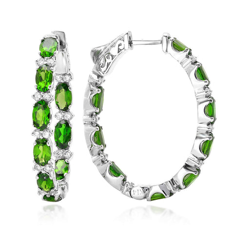 PMI 14W@7.60 36RD1@0.61 18CD@3.93 CHROME DIOPSIDE EARRING