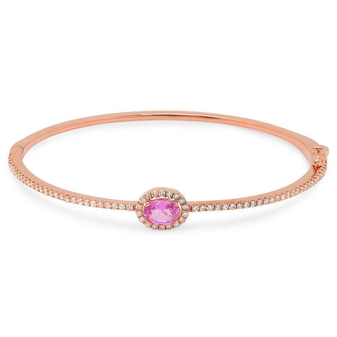 PMI 14P@10.1 72RD1@0.80 1P.SP@0.91 PINK SAPPHIRE BANGLE