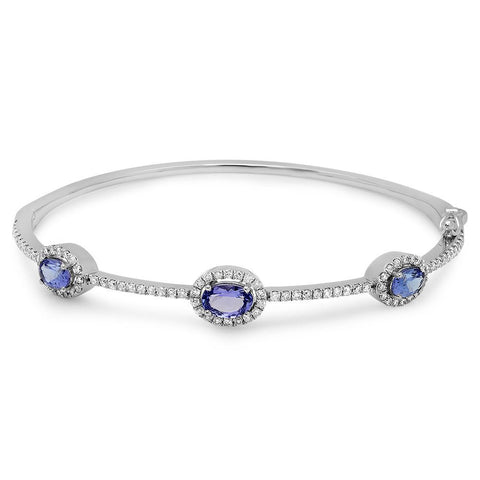 PMI 14W@11.7 90DR1@0.91 3TZ@1.91 TANZANITE BANGLE