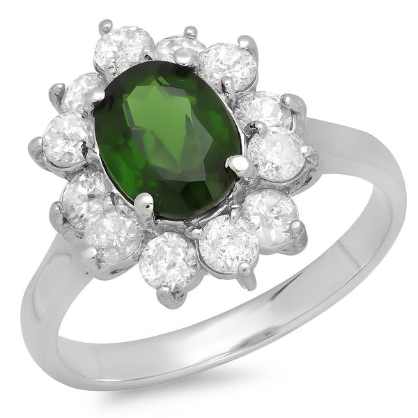 PMI 14W@3.4 12RD4@0.96 1CD@1.37 CHROME DIOPSIDE RING