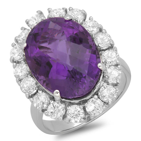 PMI 14W@9.1 16RD2@1.81 1AMountings@9.91 AMETHYSolitaires RING