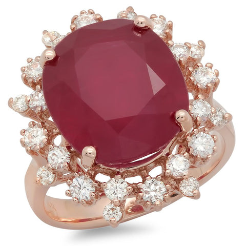 PMI 14R@8.4 24RD1@0.83 1RUBY@13.8 13X11MM RUBY RING