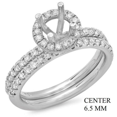 PMI 14W@5.5 55RD1@0.61 SET 6.5MM ROUND HALO WEDDING SET