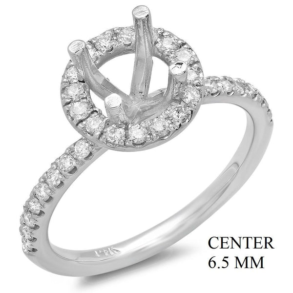 PMI 14W@3.3 34RD1@0.40 6.5MM ROUND ROUND HALO WEDDING SET