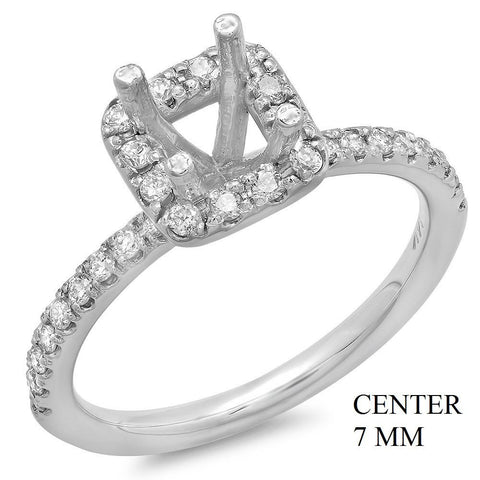 PMI 14W@3.7 38RD1@0.44 7MM PRINCESS HALO WEDDING SET