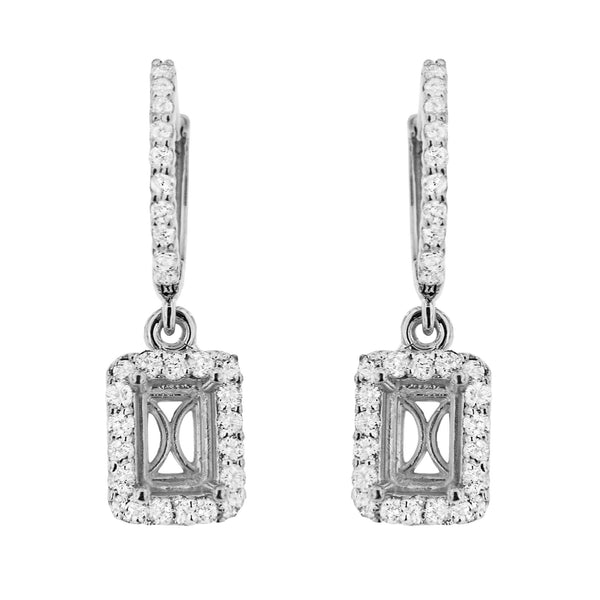 PMI 14W@3.1 56RD2@0.71 6.5X4.5MM EMERALD DANGLING EARRINGS