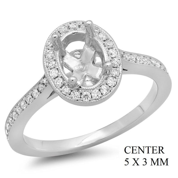 PMI 14W@3.5 PAVE' SET 45RD1@0.31 5X3MM OVAL HALO