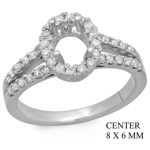 PMI 14W@4.2 42RD1@0.54 8X6MM OVAL SPLIT SHNAK HALO