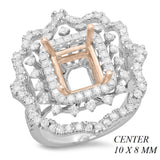 PMI 14WP@8.7 116RD@1.58 TWO TONE 10X8MM EMERALD