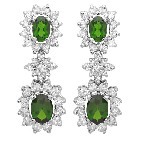 PMI 14W@7.40 66RD2@2.07 4C.D@2.41 CHROME DIOPSIDE EARRING