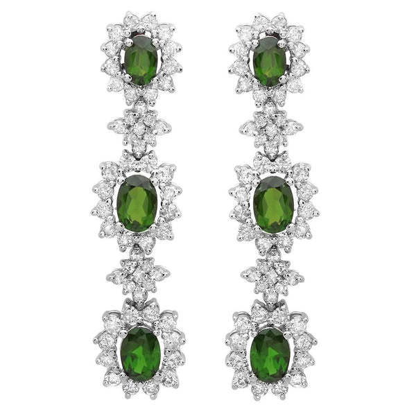 PMI 14W@12.20 108RD3@3.36 6C.D@4.38 CHROME DIOPSIDE EARRING