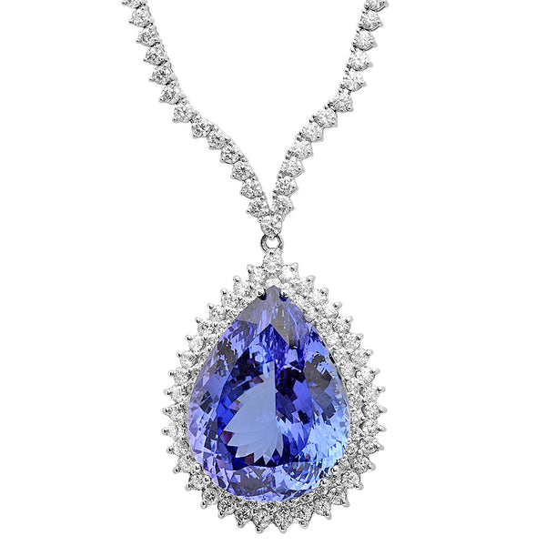 PMI 18W@38.30 252RD@9.68 1TANZ@52.73 TANZANITE NECKLACE