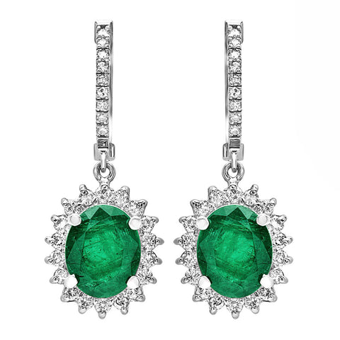 PMI 14W@7.70 54RD@0.92 2EM@4.82 EMERALD EARRINGS