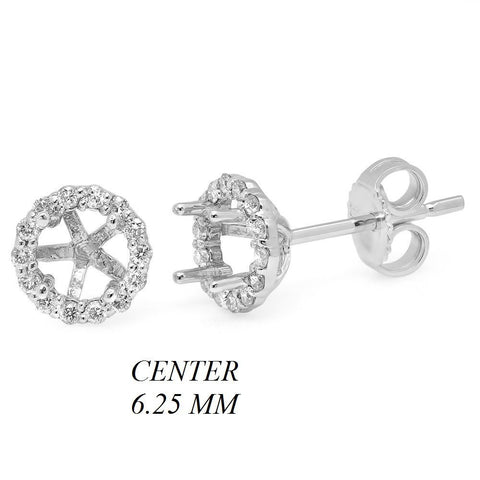 PMI 14W@2.05 36RD@0.33 6.25MM ROUND SolitairesUD EARRING