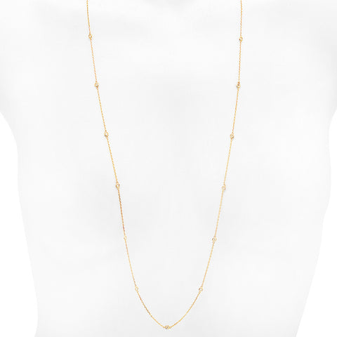 PMI 14Y@5.82 20RD@1.04 36INCH DIAMOND BY THE YARD NECKLACE