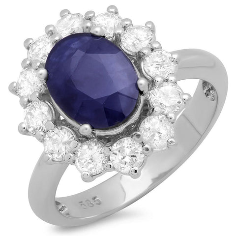 PMI 14W@5.3 12RD2@1.09 1BSPH@2.39 BLUE SAPPHIRE RING