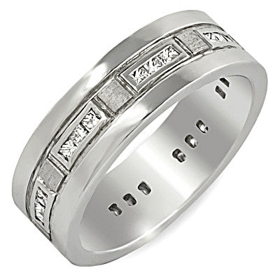 PMI 14W@9.4 24PC@0.47 6.81mm WIDE MEN'S WEDDING BAND