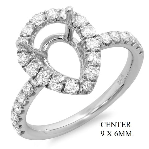 PMI 14W@3.40 30RD1@0.79 9X6MM PEAR SHAPE HALO